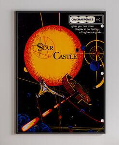 Star Castle Cinematronic 1980 Arcade Video Game Retro Print Poster 18 x 24 inch
