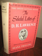 1st Edition SELECTED LETTERS D.H. Lawrence FIRST PRINTING Correspondence CLASSIC
