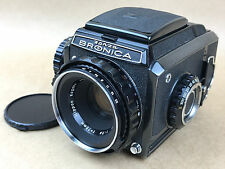 Zenza Bronica S2 Black Medium Format Film Camera  w/ 75mm f/2.8 Nikkor-P Lens