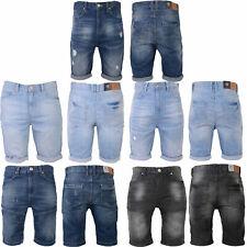 Crosshatch Mens Treyforth Trebor Or Treyrip Designer Cotton Summer Denim Shorts
