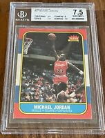 1986 Fleer Michael Jordan RC BGS 7.5 / 9.5 Centered - PSA 8.5