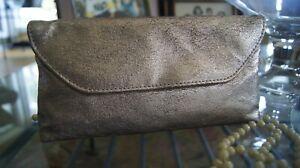 bareMinerals Gold Crackled Makeup Bag - New!