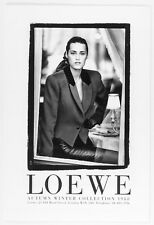Yasmin Le Bon Loewe Autumn Fall Winter 1988 Collection lookbook campaign vtg 80s