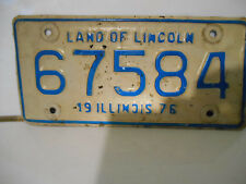 plaque immatriculation moto usa 1976 illinois license plate old  motorcycle