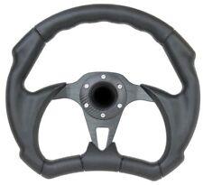 Black Grip Golf Cart Steering Wheel - 6 Hole Universal Pattern