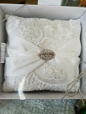 """Lillian Rose Lace Ring Pillow 7"""""""