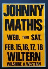 JOHNNY MATHIS OG Promo Concert Poster 1989 Easy listening Grammy Christmas
