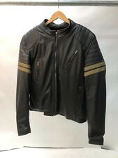 Spada Wyatt Leather Motorcycle Motorbike Jacket - Black size 40 MEDIUM