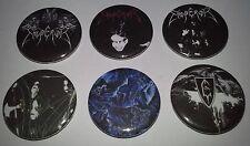 6 Emperor button badges In the Nightside Eclipse Black Mayhem Immortal Norway