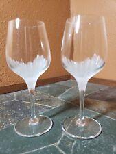 "2 Cristal D'Arques ""Cervione"" Wine Glasses Goblets 5 7/8"""