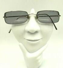 Vintage Oliver Peoples OP-2003 Silver Metal Rectangle Sunglasses Frames Japan
