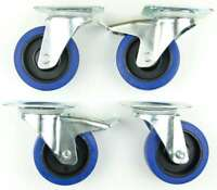 1 Set 100 mm SL 180kg p.R Lenkrollen m/o Feststeller Blue Wheel Transportrollen