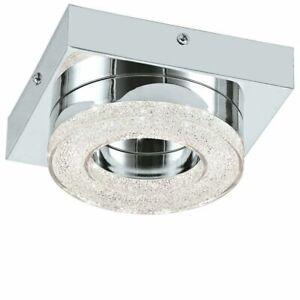 EGLO Fradelo Round Single LED Ceiling Flush Light in Chrome Finish