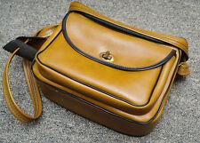 Vintage 12x8x5 Tan Naugahyde Bag-Time Brooklyn Camera Bag/Case