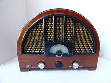 VTG Cariole AM/FM Radio OTR-98 Replica Repro Cathedral Style wood veneer cabinet