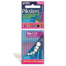 ツ PIKSTERS INTERDENTAL BRUSH SIZE 1 PACK OF 10 REUSABLE FLOSS ALTERNATIVE PURPLE