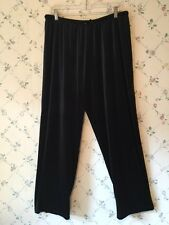 Forever New York Velveteen Black Pants Womens Large Super Soft!