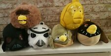 set of 6 angry birds star wars plushies