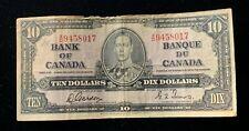 1937 Canadian $10 Dollar Bill -  Gordon/Towers - BC-24b - X/D (BB#1206)