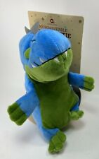 """Aroma Home Cozy Blue Green Dinosaur Plush 10"""" with Pouch for Microwave Gift NWT"""