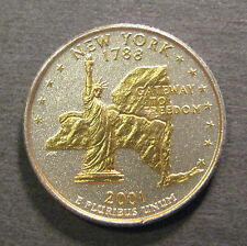 2001 Gold & Silver Highlighted  State Quarter - New York - *No Reserve*- (L806)