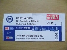 Tickets: UEFA CUP 1st RD HERTHA BSC v ST. PATRICK'S ATHLETIC, 04 Sept 2008