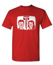 WATCH TV - Unisex Cotton T-Shirt Tee Shirt