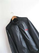 adidas ORIGINALS | Men's Black Shiny WETLOOK Panel Tracksuit Track Jacket | XL