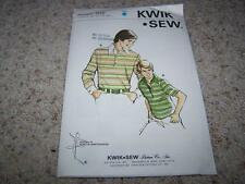 KWIK SEW Sewing Pattern 705 JUNIOR BOYS RUGBY SHIRT Chest Sizes 30-34.5 UNCUT