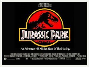 "JURASSIC PARK 1993 repro UK cinema quad poster 30x40"" Steven Spielberg FREE P&P"