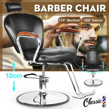 Classic Leather Barber Chair Hair Beauty Styling Salon Hairdressing Hydraulic