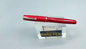 Vintage Parker Thrift DUETTE Fountain Pen in rare CHERRY RED Restored