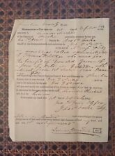 Historical Document 1845 Signed By Future CIVIL WAR Capt. Leander Masters