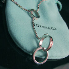 TIFFANY & CO ~ 1837 INTERLOCKING CIRCLES RINGS LARIAT NECKLACE ~ POUCH