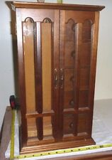 """Vtg Wood JEWELRY CASE & MUSIC BOX [works well] - Unknown tune  Japan [18x10x7""""]"""