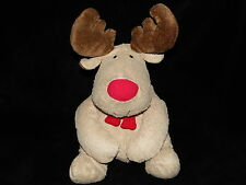 NEXT REINDEER SOFT TOY BEIGE BROWN RUDOLPH RED NOSE COMFORTER DOUDOU