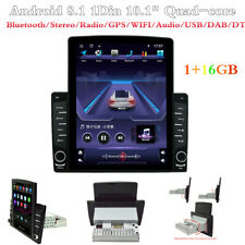 Android 8.1 1Din 10.1In BT radio estéreo de coche SAT NAV GPS WIFI USB MP5 reproductor de audio