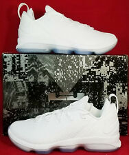 NIB NIKE Mens 10 LEBRON XIV LOW 878636 101 WHITE BASKETBALL SHOES MSRP $150 NEW