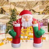11' Christmas Huge Inflatable Santa Arch Archway Blown Air Holiday Outdoor Decor