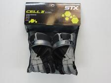 Nwt $120 Stx Cell 2 Black/White/Silver Youth Boys Size Large Lacrosse Gloves