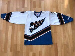 Authentic Washington CAPITALS #90 JUNEAU CCM JERSEY MEDIUM NHL M PX492