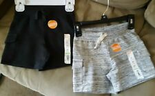 New Boy's Jumping Beans Knit Cargo Shorts Charcoal Gray & Oatmeal Heather 2T $28