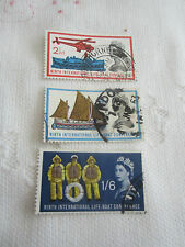 GB 1963 USED SET OF 3 S G 639-42   LIFEBOAT CONF      G17/039