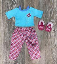 American Girl Petals & Plaid PJs Pajamas Set 2013 Retired