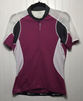SUGOI Womens Medium 1/2 Zip Cycling Top S/Sleeve Breathable Fitted Back Pockets