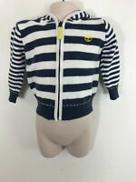 BOYS TIMBERLAND BLUE / WHITE STRIPED JUMPER SWEATER JACKET SIZE 12 MONTHS CHILD