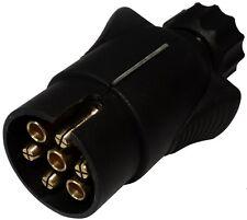 Fiche mâle 7pin prise connecteur de remorque 7 broches 12V 6mm C12375 attelage