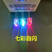 5 Giant 10mm LED Rainbow Flashing Diode Lights