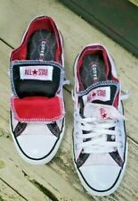 RARE CONVERSE ALL STAR DOUBLE TONGUE PRODUCT RED CANVAS SNEAKERS W 8.5 MEN 6.5