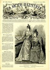 French MODE ILLUSTREE SEWING PATTERN February 12,1893